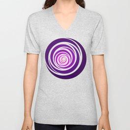 Spinnin Round Purple Unisex V-Neck