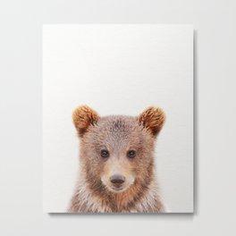 Baby Bear, Baby Animals Art Print By Synplus Metal Print