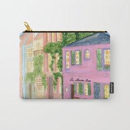 Paris, La maison rose, watercolor cityscape Carry-All Pouch