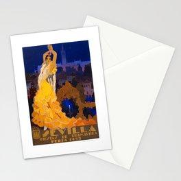 Spain 1933 Seville April Fair Travel Poster Stationery Cards