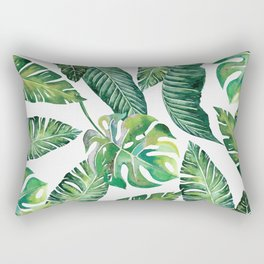 Jungle Leaves, Banana, Monstera #society6 Rectangular Pillow