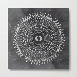 Music note mandala 2 (chalk) Metal Print