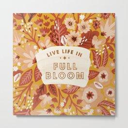 Live Life in Full Bloom – Orange Palette Metal Print