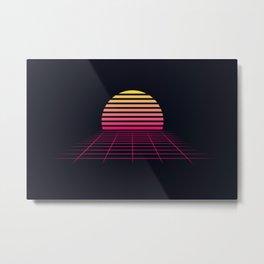 Retrowave sunset 2 / 80s - 90s Retro Metal Print