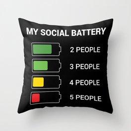 Social Life Battery Throw Pillow