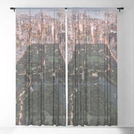 Central Park, New York - Twilight Sheer Curtain