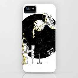 Mining in Space iPhone Case