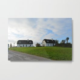 Thatched Cottages Metal Print