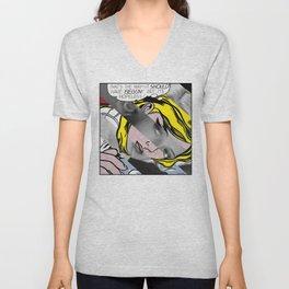 Roy Lichtenstein's Hopeless & Bette Davis Unisex V-Neck