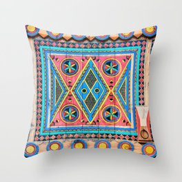 Saudi Colors Throw Pillow