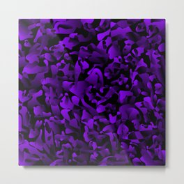 Explosive bright on color from spots and splashes of violet paints. Metal Print
