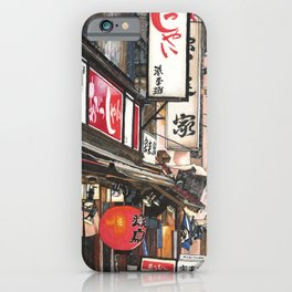 Lights in the Snow iPhone Case