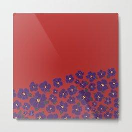 Field of African Violets Metal Print