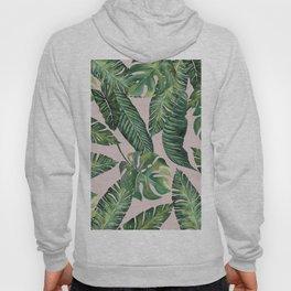 Jungle Leaves, Banana, Monstera Pink #society6 Hoody