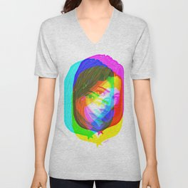 Fragmented Unisex V-Neck