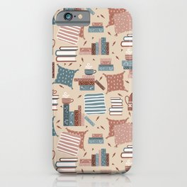 Hygge Reading Things iPhone Case