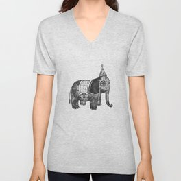 Victorian Circus Elephant Unisex V-Neck