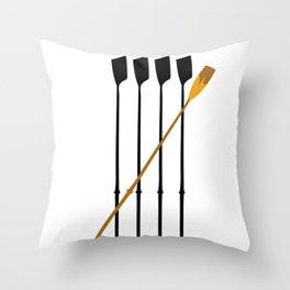 Rowing Oars 4 Throw Pillow