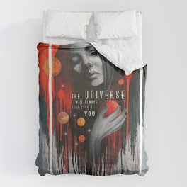The universe will always take care of you illustration Comforters
