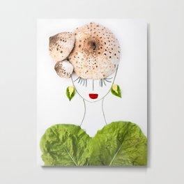 DANA - Botanical Portrait of a Beautiful Plant Lady Metal Print