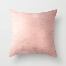 Blush Rose Gold Ombre  Throw Pillow