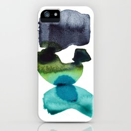 Weight of the World - Minimalist Abstract Watercolor Painting iPhone Case