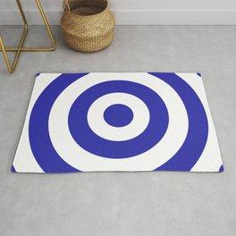 Target (Navy Blue & White Pattern) Rug