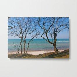 Soft Blue Baltic Sea Landscape Metal Print