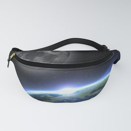 Earth and moon Fanny Pack