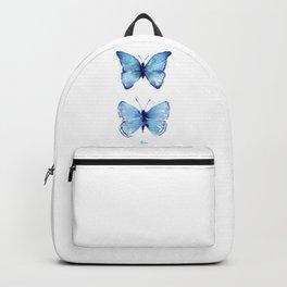 Two Blue Butterflies Watercolor Rucksack