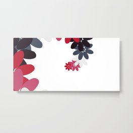 Creative Abstract Design from Random Colorful Flowers Metal Print