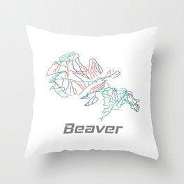 Beaver Colorado Ski Pist Map Gift Throw Pillow