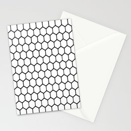 Simple Hexagon (white) Stationery Cards