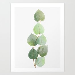 Golden Eucalyptus Minimal I Art Print