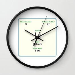 3 Lithium Wall Clock