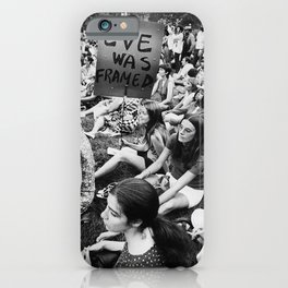 Eve Was Framed Black and White Women's Movement photograph iPhone Case