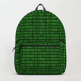 Binary numbers pattern in green Backpack