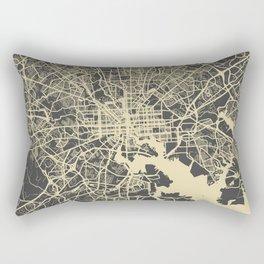 Baltimore map yellow Rectangular Pillow