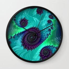 Berry Lime Twist - Fractal Art Wall Clock