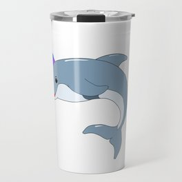 Unicorn Dolphin Travel Mug