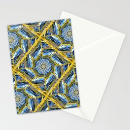 golden day kaleidoscope pattern Stationery Cards