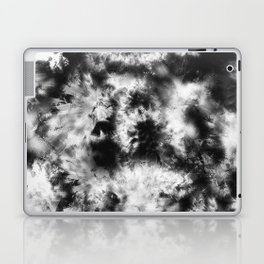 Black and White Tie Dye & Batik Laptop & iPad Skin