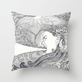 Silent Scream Throw Pillow