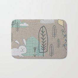 Cute Bunny woodland #nursery #homedecor Bath Mat
