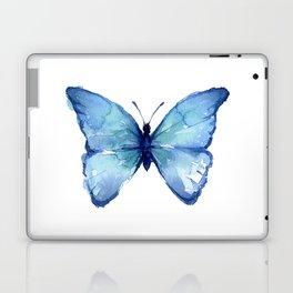 Blue Butterfly Watercolor Laptop & iPad Skin