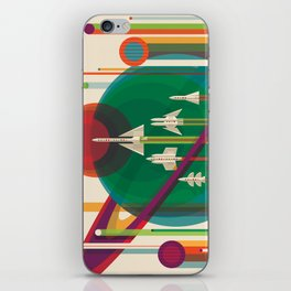 NASA Retro Space Travel Poster The Grand Tour iPhone Skin