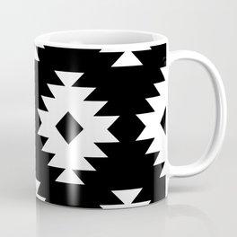 Southwestern Pattern 821 Black and White Coffee Mug