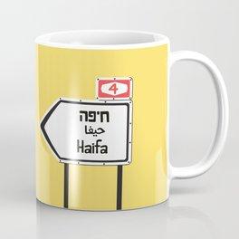 Haifa, This Way Kaffeebecher