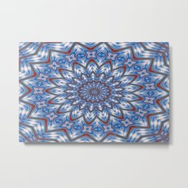 Seventeen Pointed Star In Red White and Blue Metal Print
