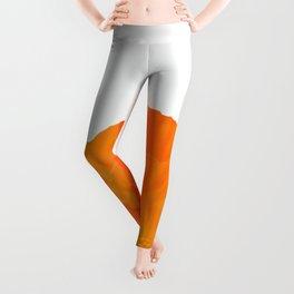 One And Only - Orange Poppy White Background #decor #society6 #buyart Leggings